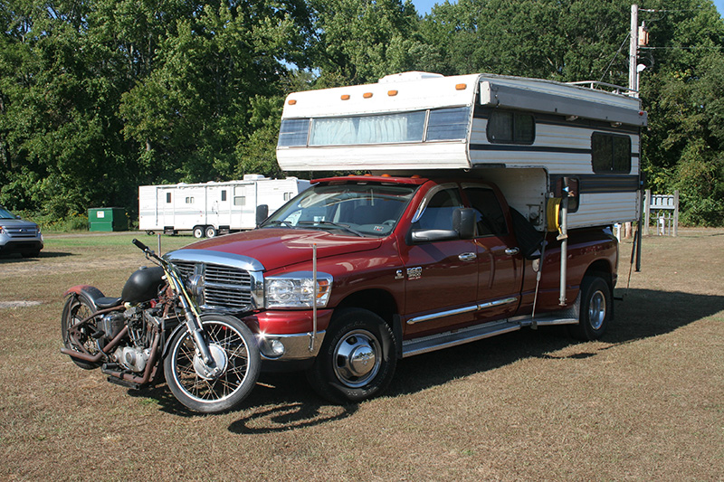 Hauling A Motorcycle With A Truck Camper Page 5